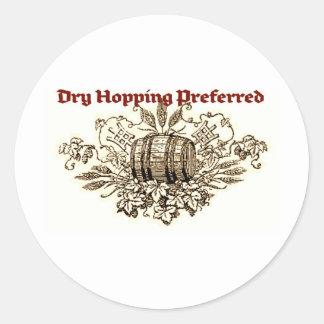 DRY HOPPING PREFERRED VINTAGE BEER KEG PRINT (SEPI ROUND STICKER