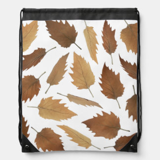 Dry Leaves Pattern Drawstring Bag