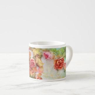 Dry roses,vintage espresso love mug espresso cup