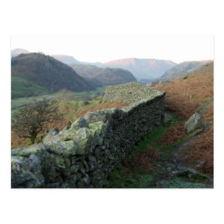Dry-Stone Wall above Thirlmere Postcard