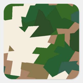 Dry Tundra Camo Square Sticker