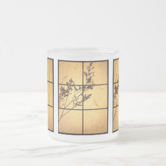Dry Weeds on Rice Paper Frosted Glass Mug