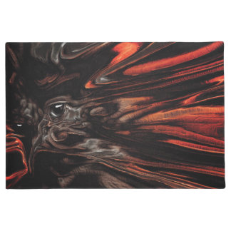 DRYAD AFLAME Surreal Tree Witch Custom Doormat