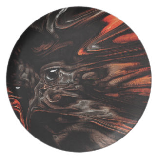 DRYAD AFLAME Surreal Tree Witch Custom Party Plates
