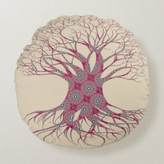 Dryad Tree (save) Round Cushion