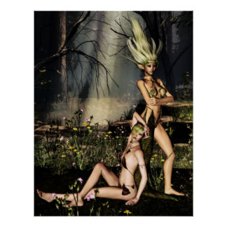Dryads at Rest Poster