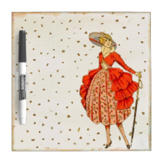 DRYERASE BOARD TEMPLATE  RETRO FASHION COUTURE