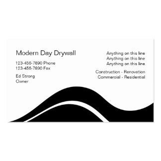 Drywall Contractor Business Cards