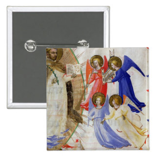 ds 558 f.67v St. Dominic with four musical angels, 15 Cm Square Badge