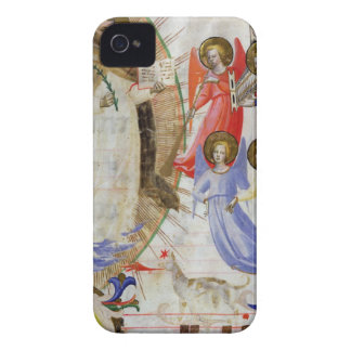 ds 558 f.67v St. Dominic with four musical angels, Case-Mate iPhone 4 Case
