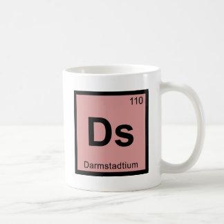 Ds - Darmstadtium Chemistry Periodic Table Symbol Basic White Mug