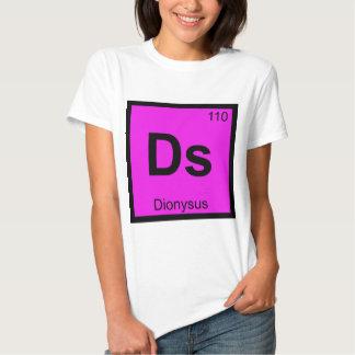Ds - Dionysus God Chemistry Periodic Table Symbol Tshirts