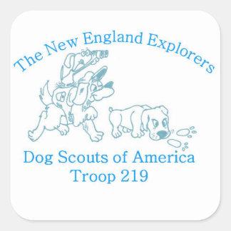 DSA Troop 219 stickers blue