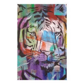DSC00414.jpg Bright Colorful Tiger face Customized Stationery