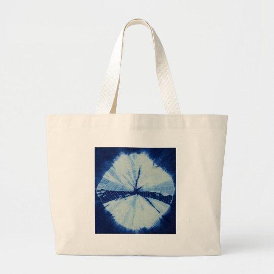 DSC03486.JPG round indigo circle art Large Tote Bag