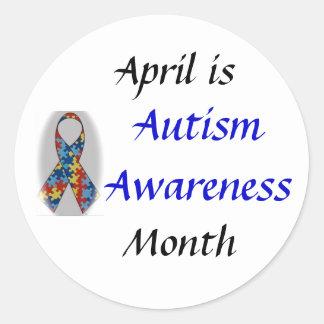 DSC_0555, Autism Awareness, April is, Month Round Sticker