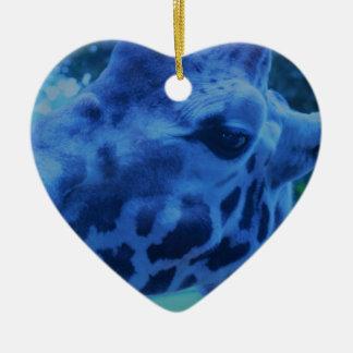 DSC_0729 (3).JPG Blue Giraffe by Jane Howarth Christmas Ornament