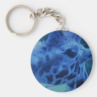 DSC_0729 (3).JPG Blue Giraffe by Jane Howarth Key Ring