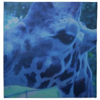 DSC_0729 (3).JPG Blue Giraffe by Jane Howarth Napkin