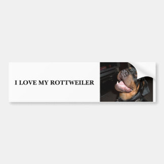 DSCF0313, I LOVE MY ROTTWEILER BUMPER STICKER