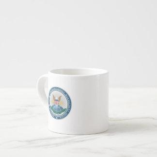 DSCMO Bone China Espresso Cup with Seal