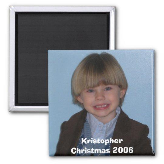 DSCN0094, KristopherChristmas 2006 Square Magnet