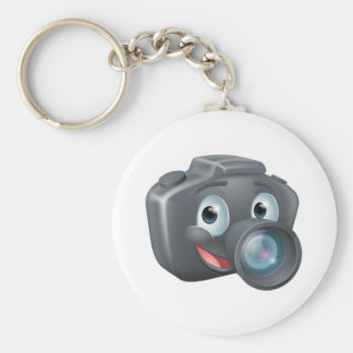 DSLR camera mascot character Key Chains