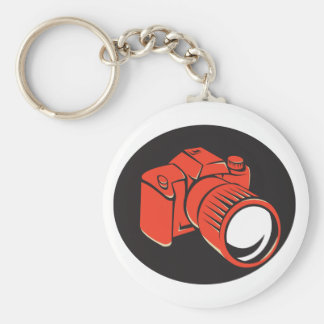 DSLR digital camera front retro Keychains