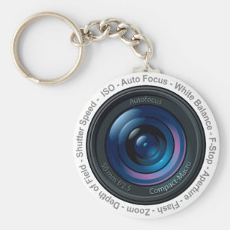 DSLR Feature Basic Round Button Key Ring