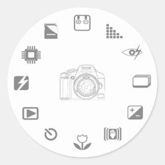 DSLR Feature Round Sticker