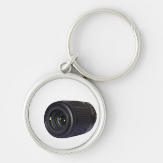 DSLR lens Silver-Colored Round Key Ring