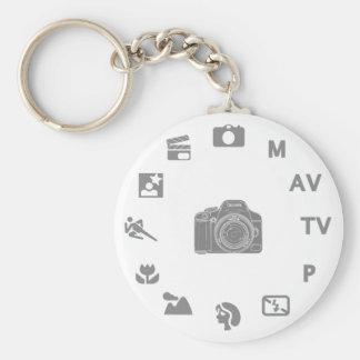 DSLR Mode Basic Round Button Key Ring
