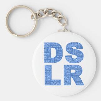 DSLR Type Typo Text Basic Round Button Key Ring