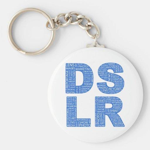 DSLR Type Typo Text Key Chain