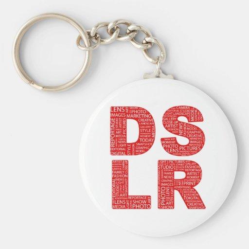 DSLR Type Typo Text Keychains