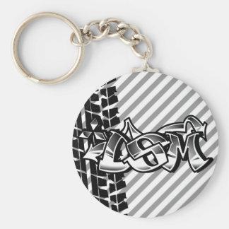 DSM Eclipse Talon 4g63 Black and White Keychain