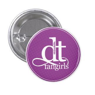 DT Fangirl Button Purple Dots