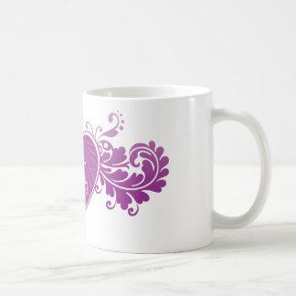 DT Fangirl Purple Heart (Mug) Basic White Mug