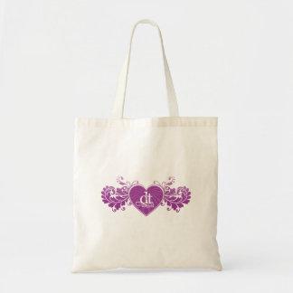 DT Fangirls (Heart Purple Bag) Budget Tote Bag