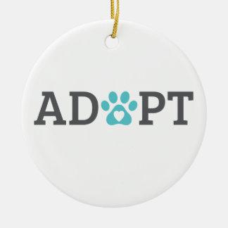 DTDR Adopt Porcelain Ornament