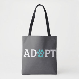 DTDR Adopt Tote Bag Gray