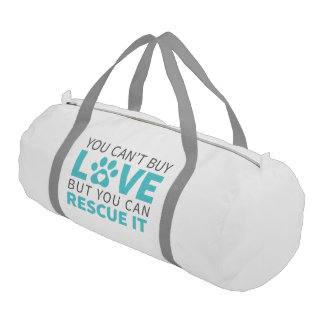 DTDR Can't Buy Love Duffle Bag, white Gym Bag