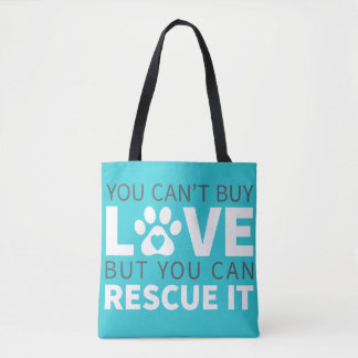 DTDR Can't Buy Love Tote Bag Blue