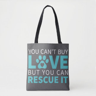 DTDR Can't Buy Love Tote Bag Gray