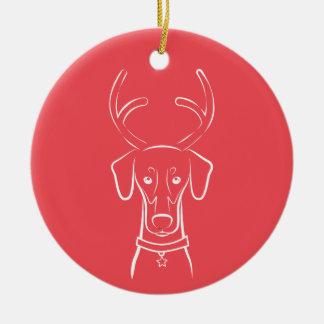 DTDR Holiday Ornament - Natural Doberman