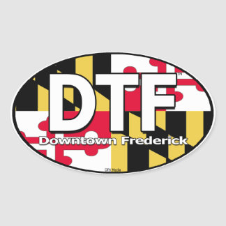 DTF Maryland Flag Decal Oval Sticker