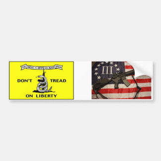 DTOL and III% Bumper Sticker