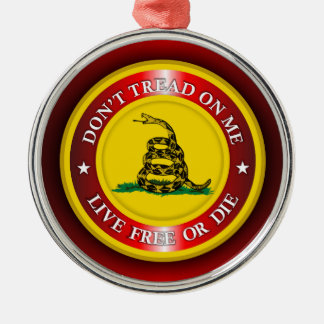 DTOM - Live Free or Die 2 (red) Christmas Ornament