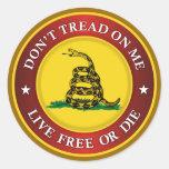 DTOM -Live Free Or Die Stickers