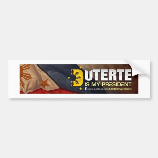 du30 my president bumper sticker